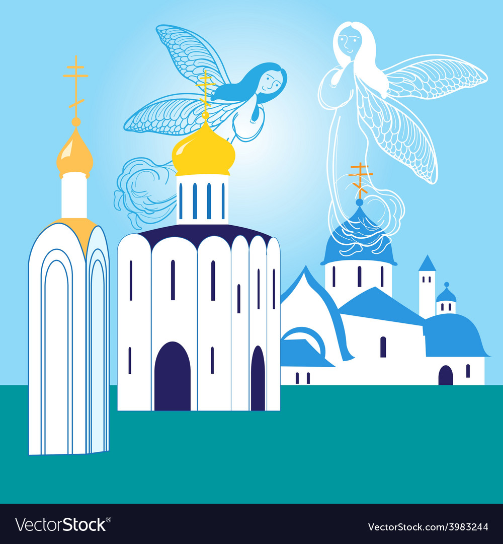 Orthodox churches vector | Price: 1 Credit (USD $1)