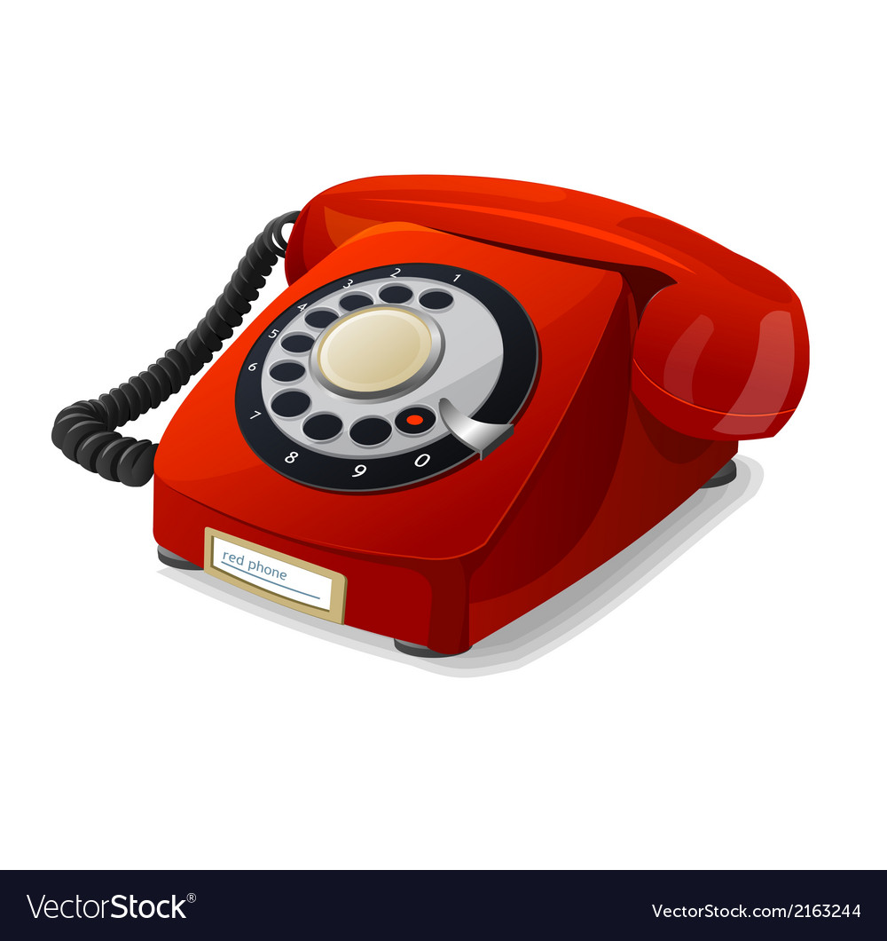 Phone red vector | Price: 1 Credit (USD $1)