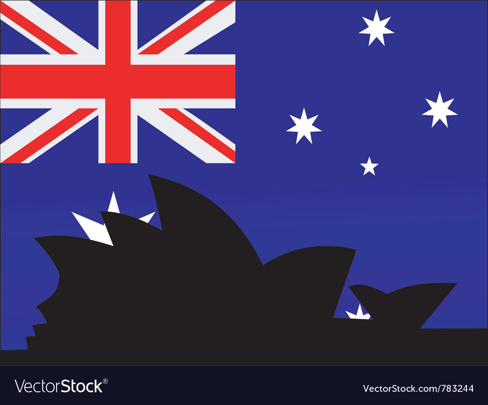 Silhouette of sydney vector | Price: 1 Credit (USD $1)