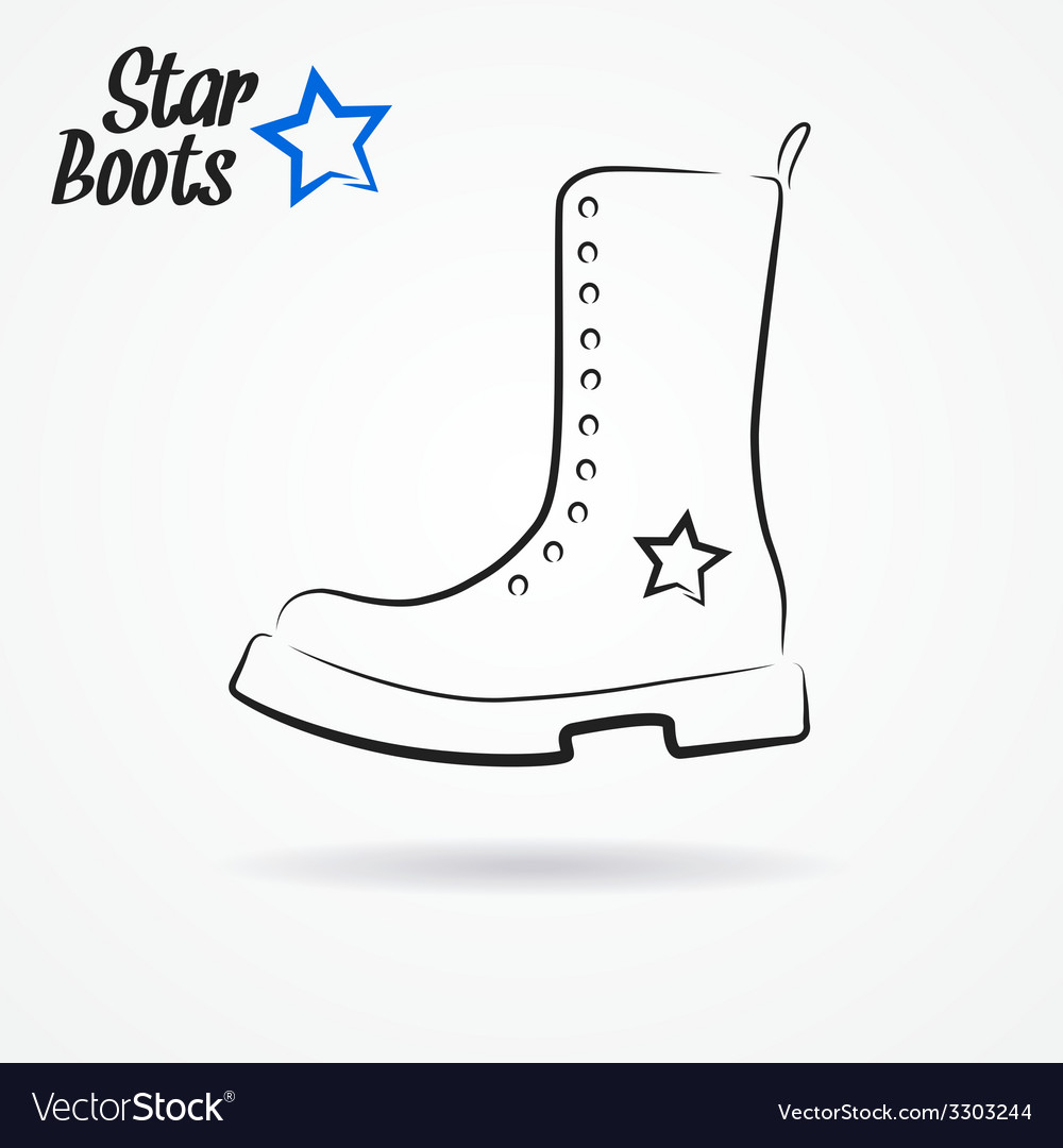 Star boots vector | Price: 1 Credit (USD $1)