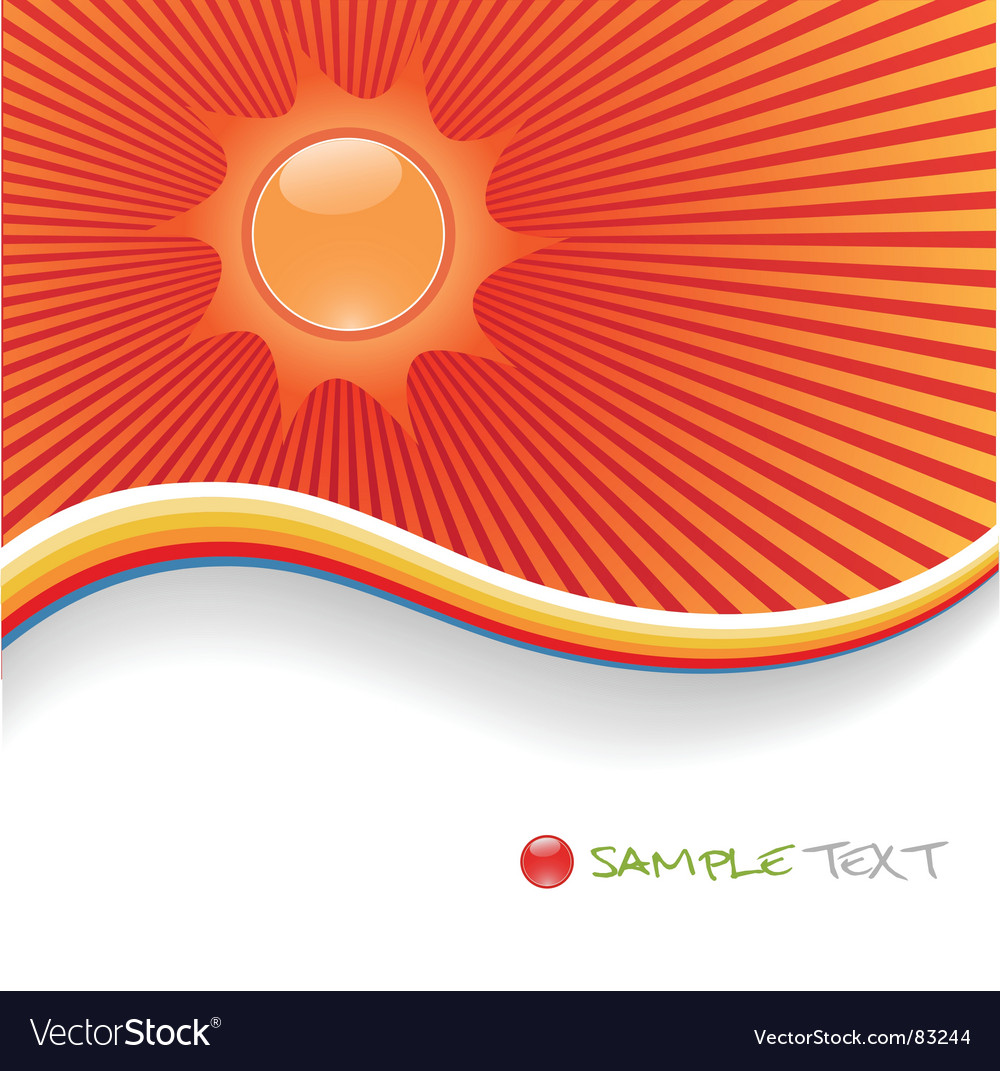 Sunshine background vector | Price: 1 Credit (USD $1)