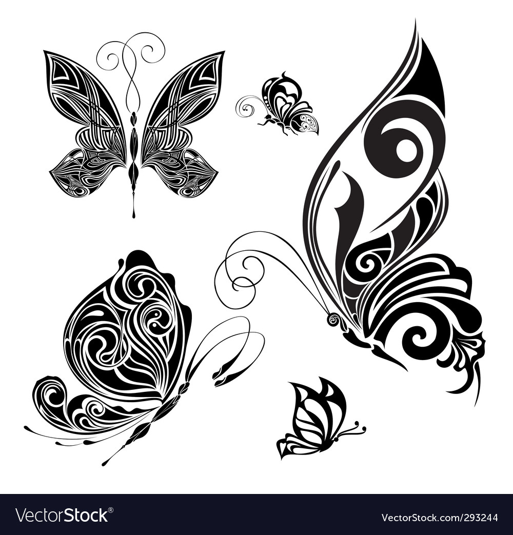 Tattoo butterflies vector | Price: 1 Credit (USD $1)