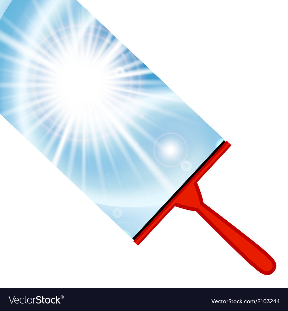 Window cleaning background with squeegee vector | Price: 1 Credit (USD $1)