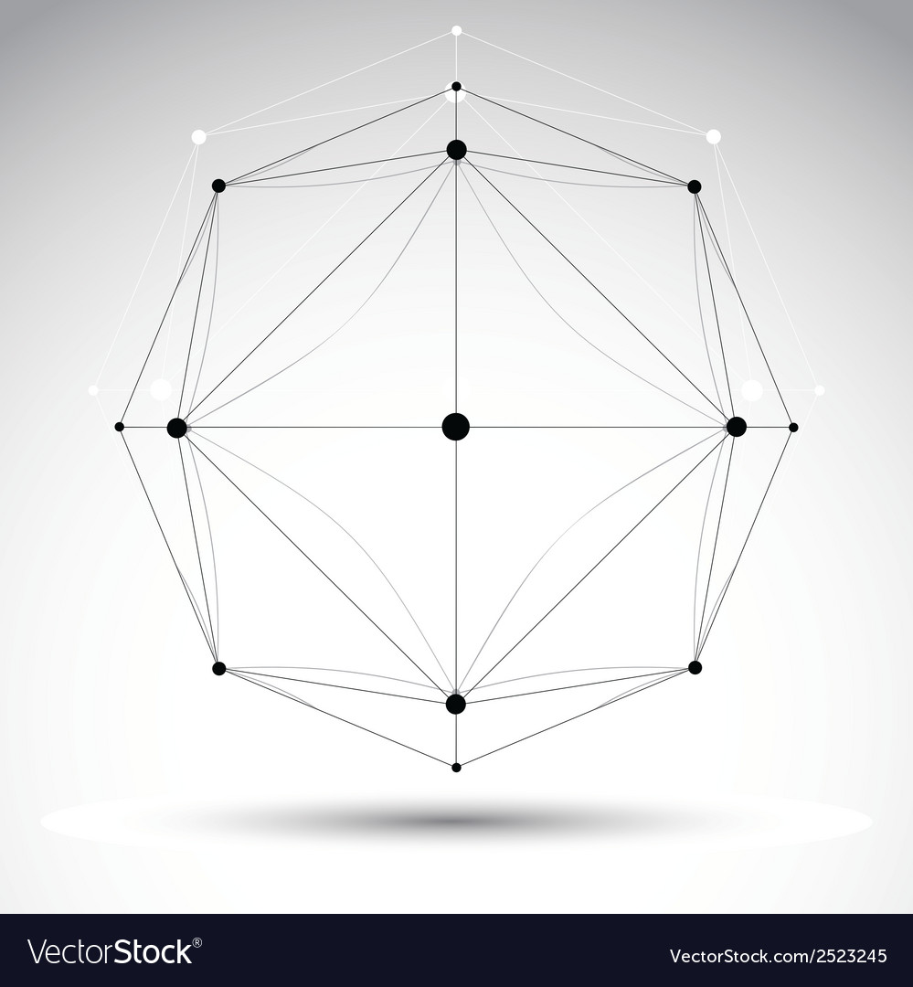 Abstract geometric 3d wireframe object cle vector | Price: 1 Credit (USD $1)