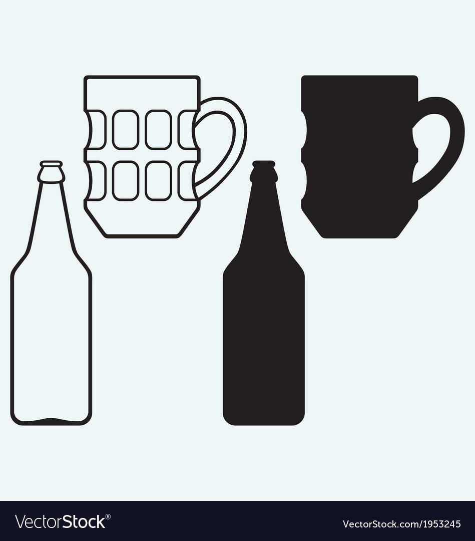 Bottles of beer vector | Price: 1 Credit (USD $1)