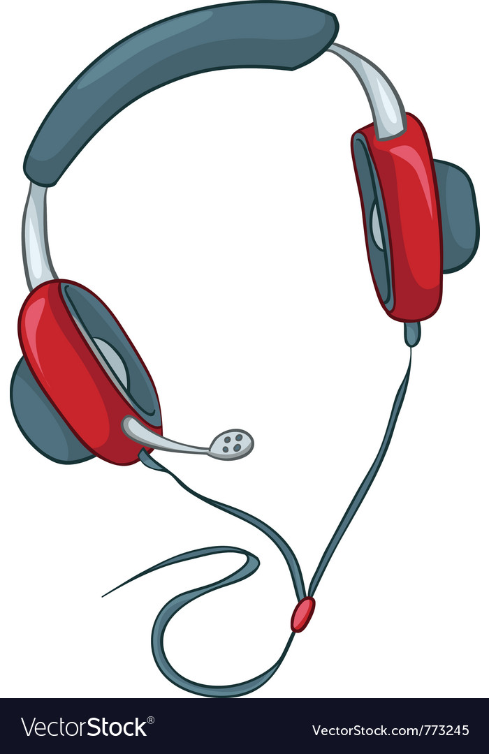 Cartoons headphone vector | Price: 1 Credit (USD $1)