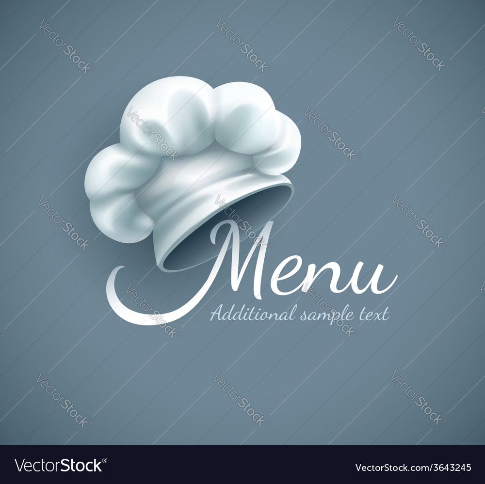 Menu logo with chef cap vector | Price: 3 Credit (USD $3)