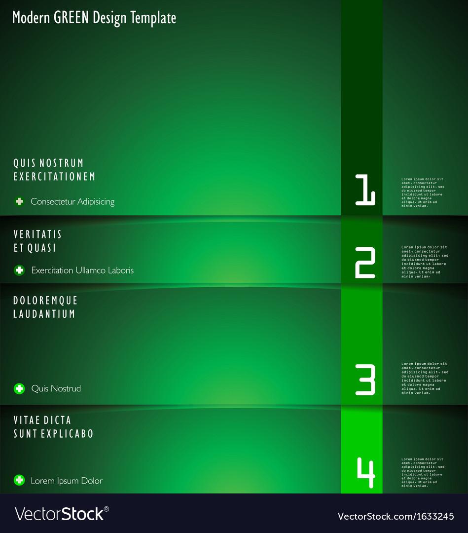 Modern green design template vector | Price: 1 Credit (USD $1)