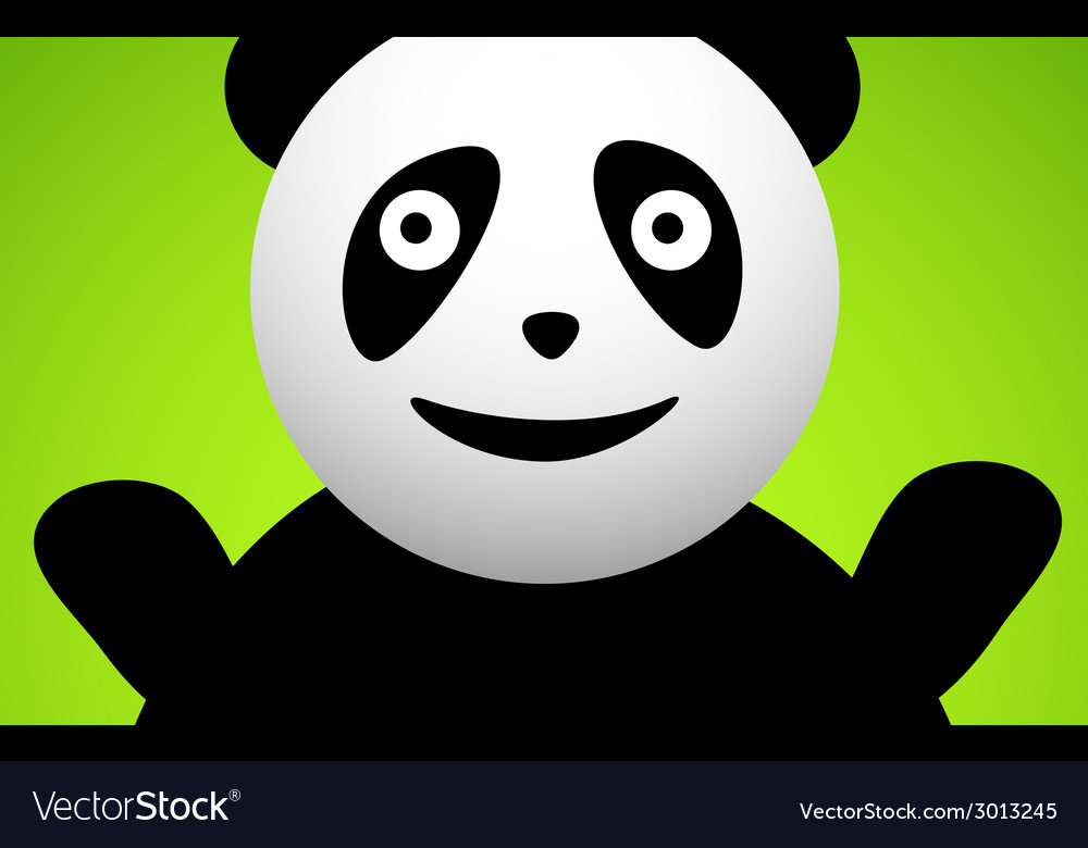Panda cartoon character vector | Price: 1 Credit (USD $1)