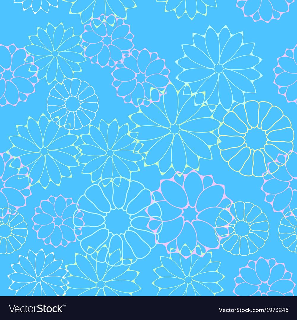 Seamless flower pattern vector | Price: 1 Credit (USD $1)