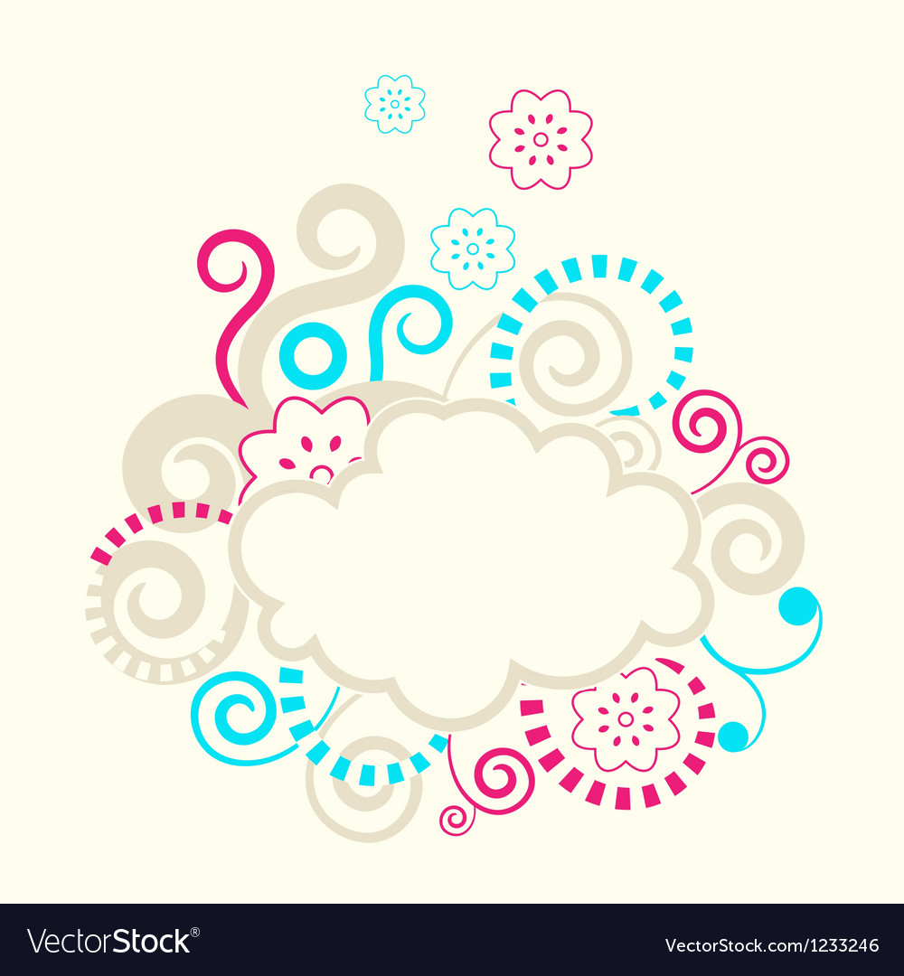 Abstract swirls frame vector | Price: 1 Credit (USD $1)