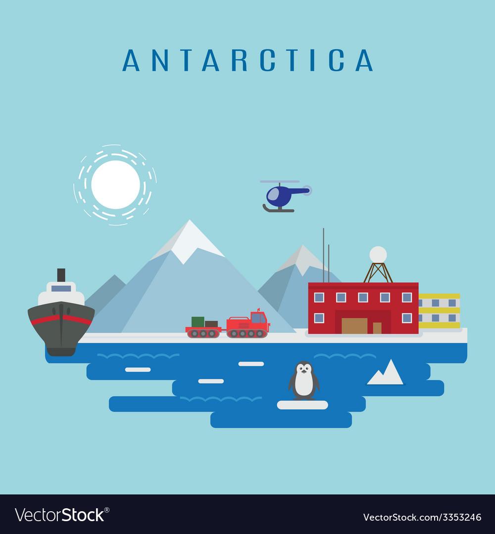 Antarctica vector | Price: 1 Credit (USD $1)