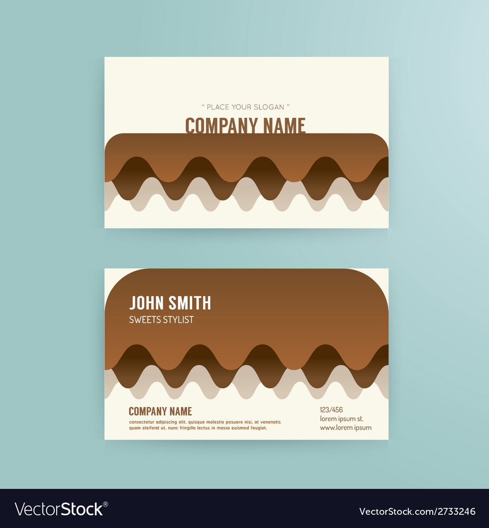 Business card template modern abstract cake vector | Price: 1 Credit (USD $1)