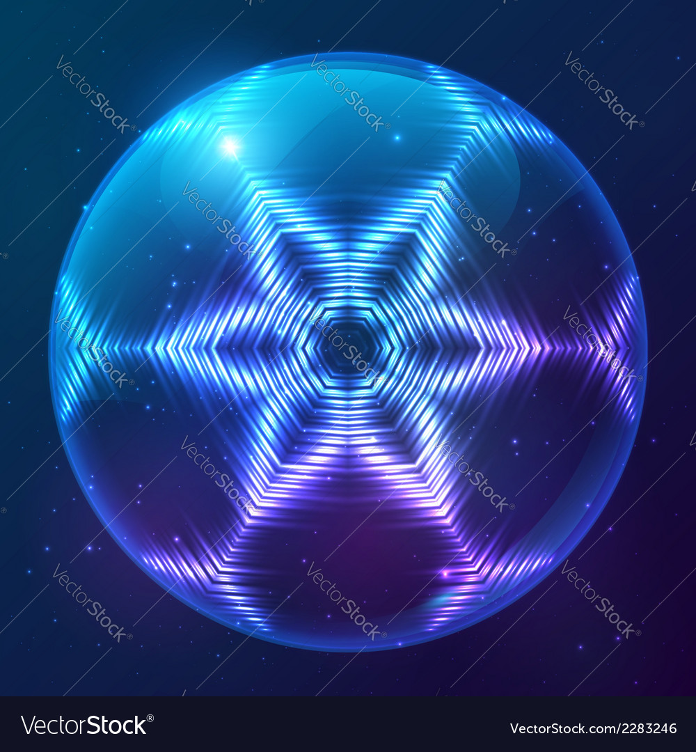 Cosmic shining abstract sphere vector | Price: 1 Credit (USD $1)