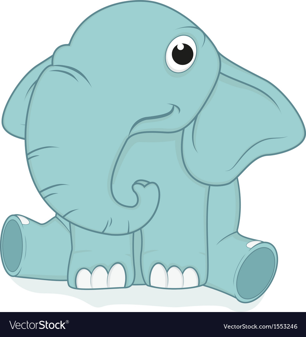 Cute elephant baby vector | Price: 1 Credit (USD $1)