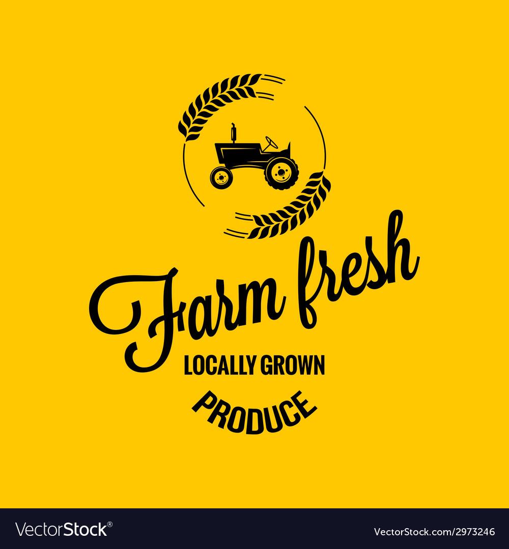 Farm fresh design background vector | Price: 1 Credit (USD $1)