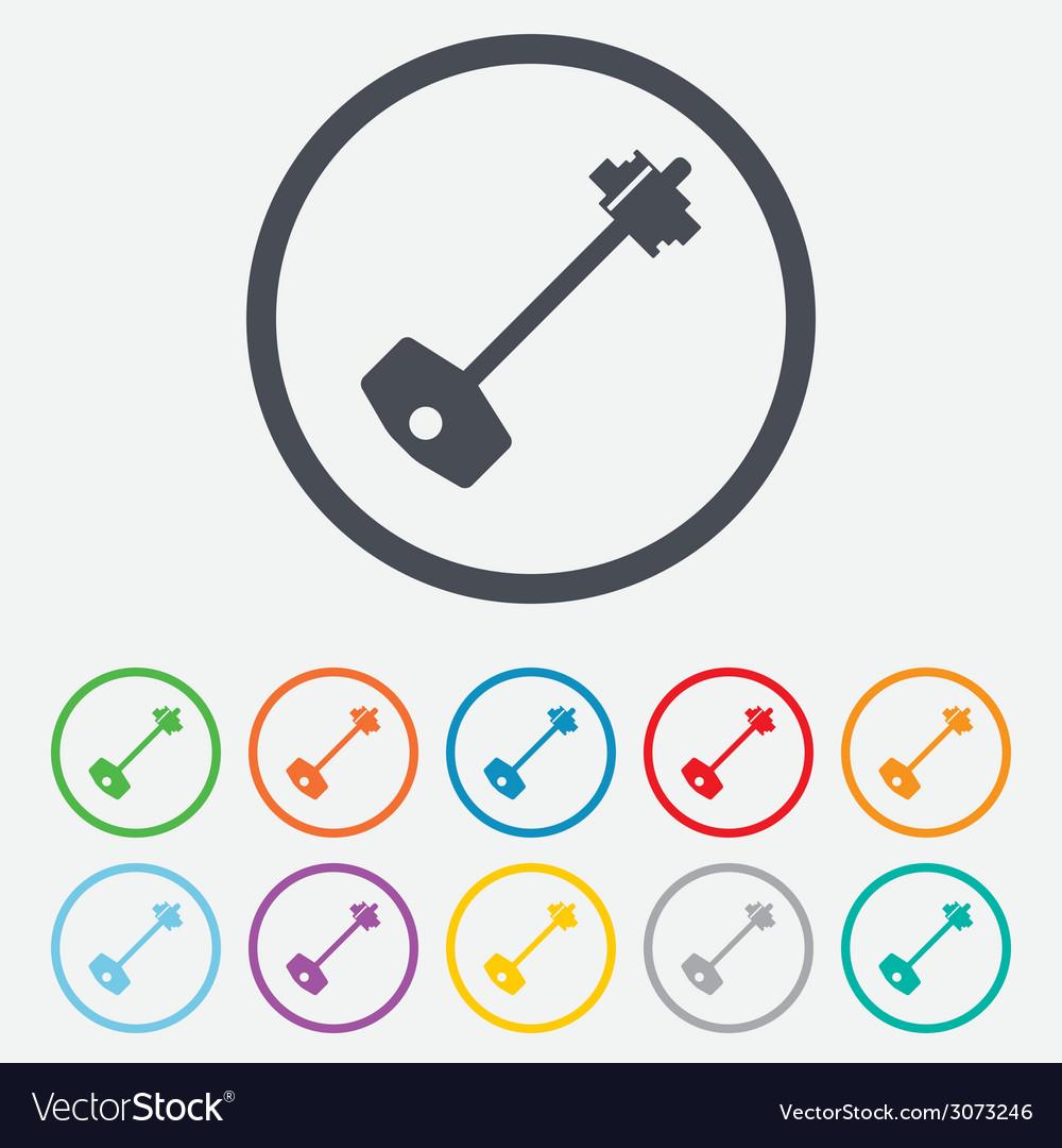 Key sign icon unlock tool symbol vector   Price: 1 Credit (USD $1)