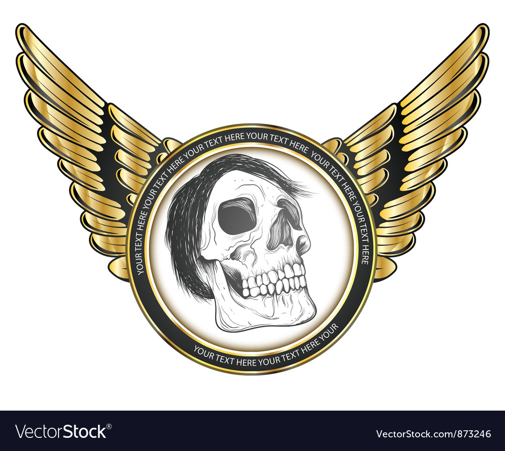 Label with skull vector | Price: 1 Credit (USD $1)