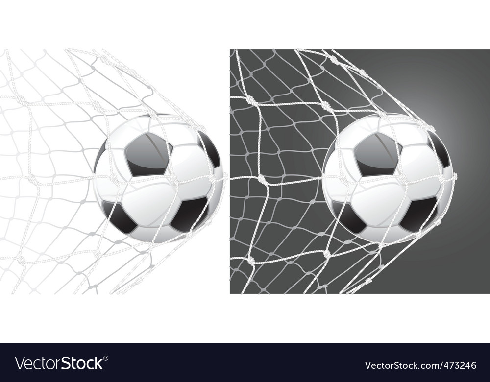 Score a goal soccer ball vector | Price: 1 Credit (USD $1)