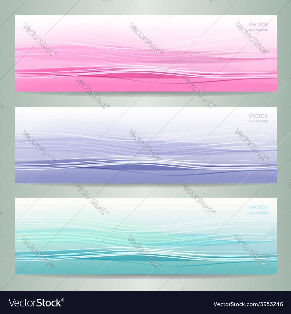 Set of three abstract banners vector | Price: 1 Credit (USD $1)