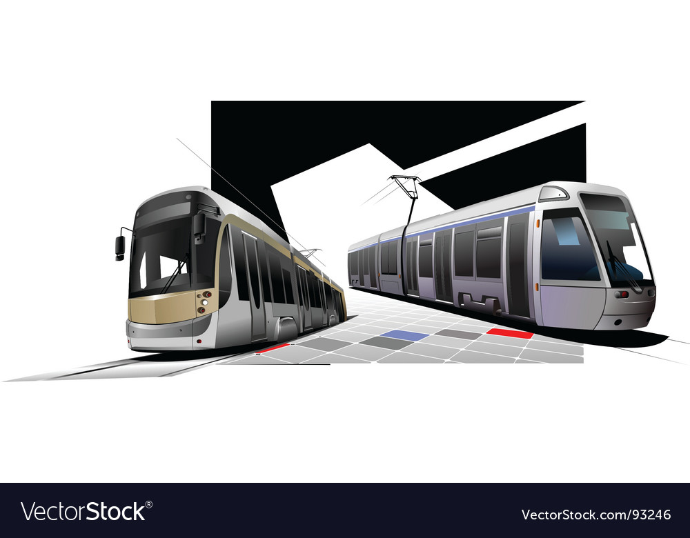 Trams vector | Price: 1 Credit (USD $1)