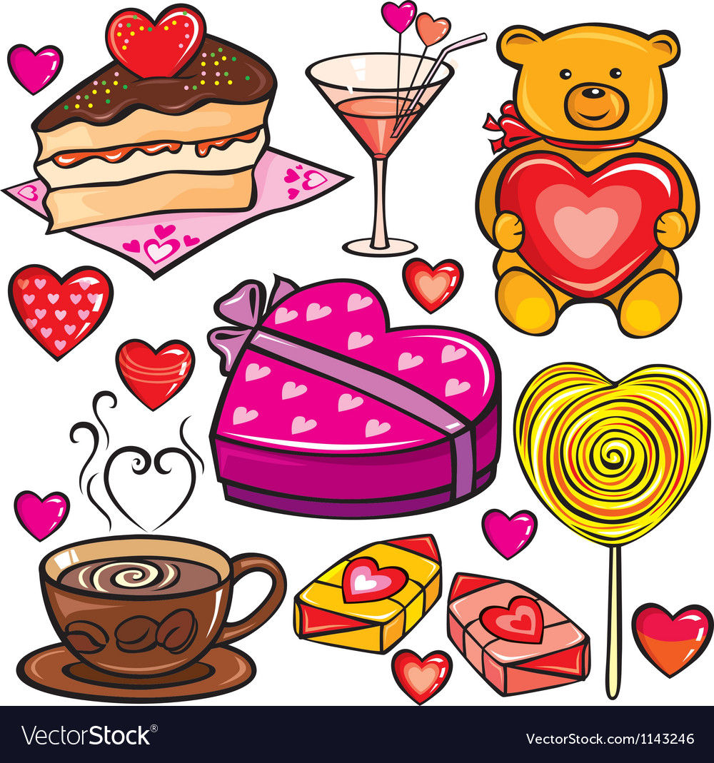 Valentines day icon set vector | Price: 1 Credit (USD $1)