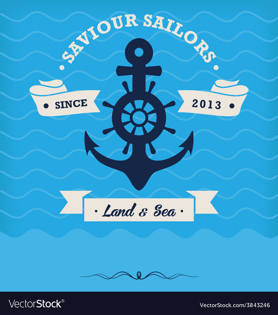 Vintage nautical anchor and ribbon vector | Price: 1 Credit (USD $1)