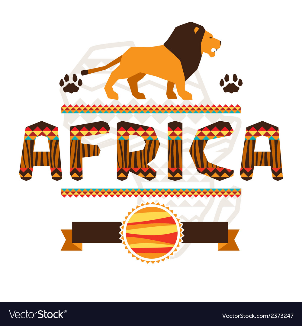African ethnic background with geometric ornament vector | Price: 1 Credit (USD $1)