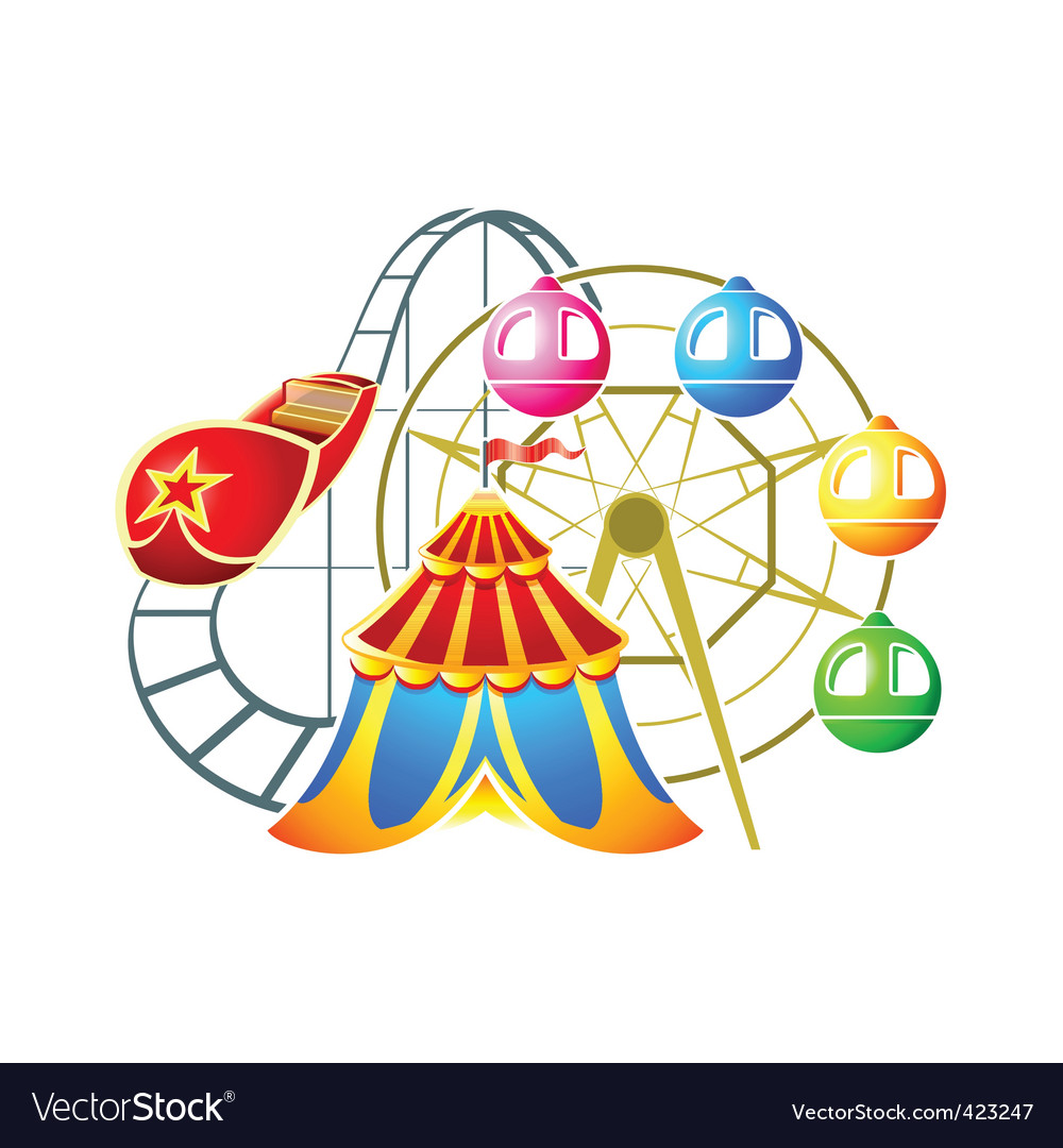 Amusement park symbol vector | Price: 3 Credit (USD $3)