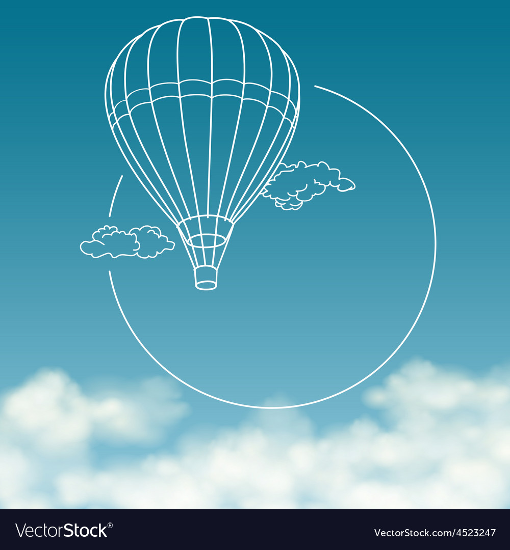 Balloon on background of cloudy sky with space for vector | Price: 1 Credit (USD $1)
