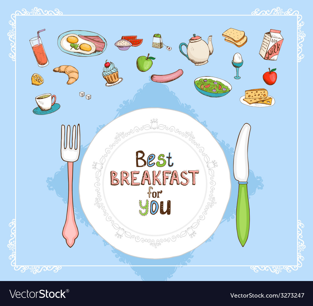 Best breakfast for you vector | Price: 1 Credit (USD $1)