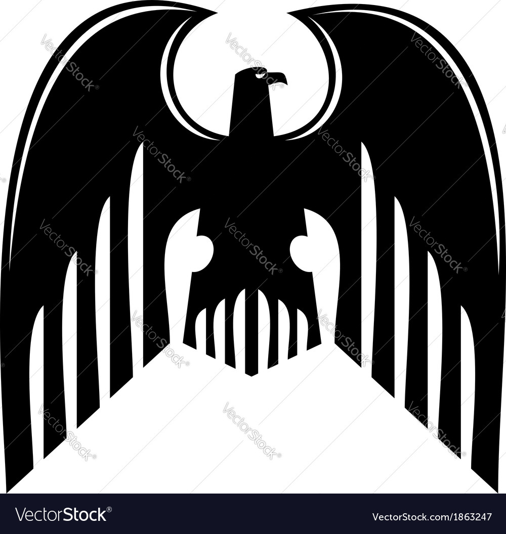 Black heraldic eagle vector | Price: 1 Credit (USD $1)