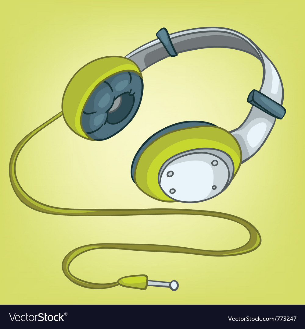 Cartoons headphone vector | Price: 1 Credit (USD $1)