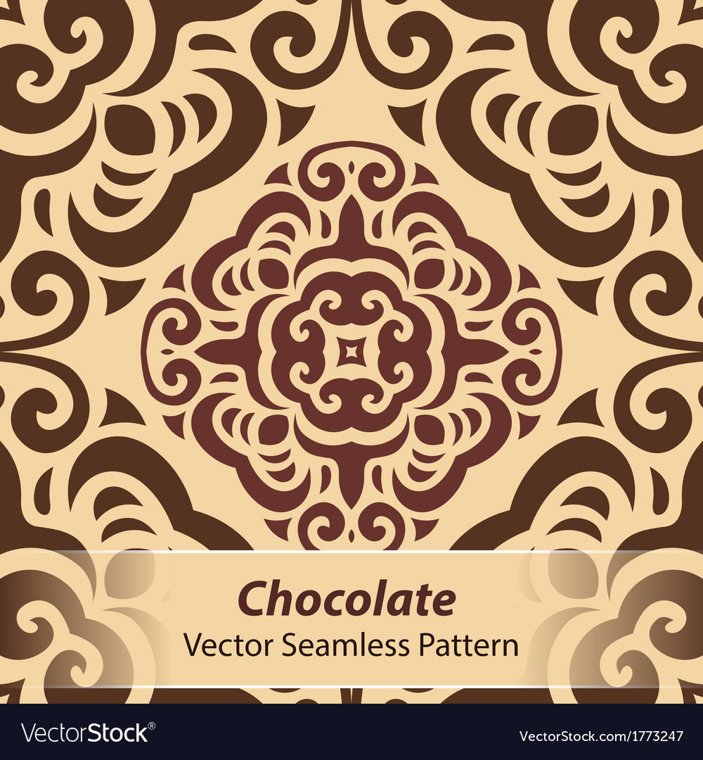 Chocolate seamless pattern vector | Price: 1 Credit (USD $1)
