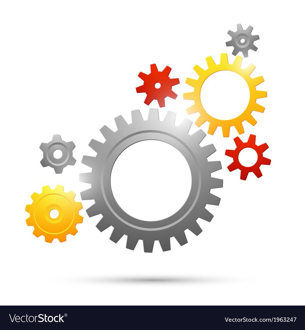 Cogwheel teamwork connection vector | Price: 1 Credit (USD $1)