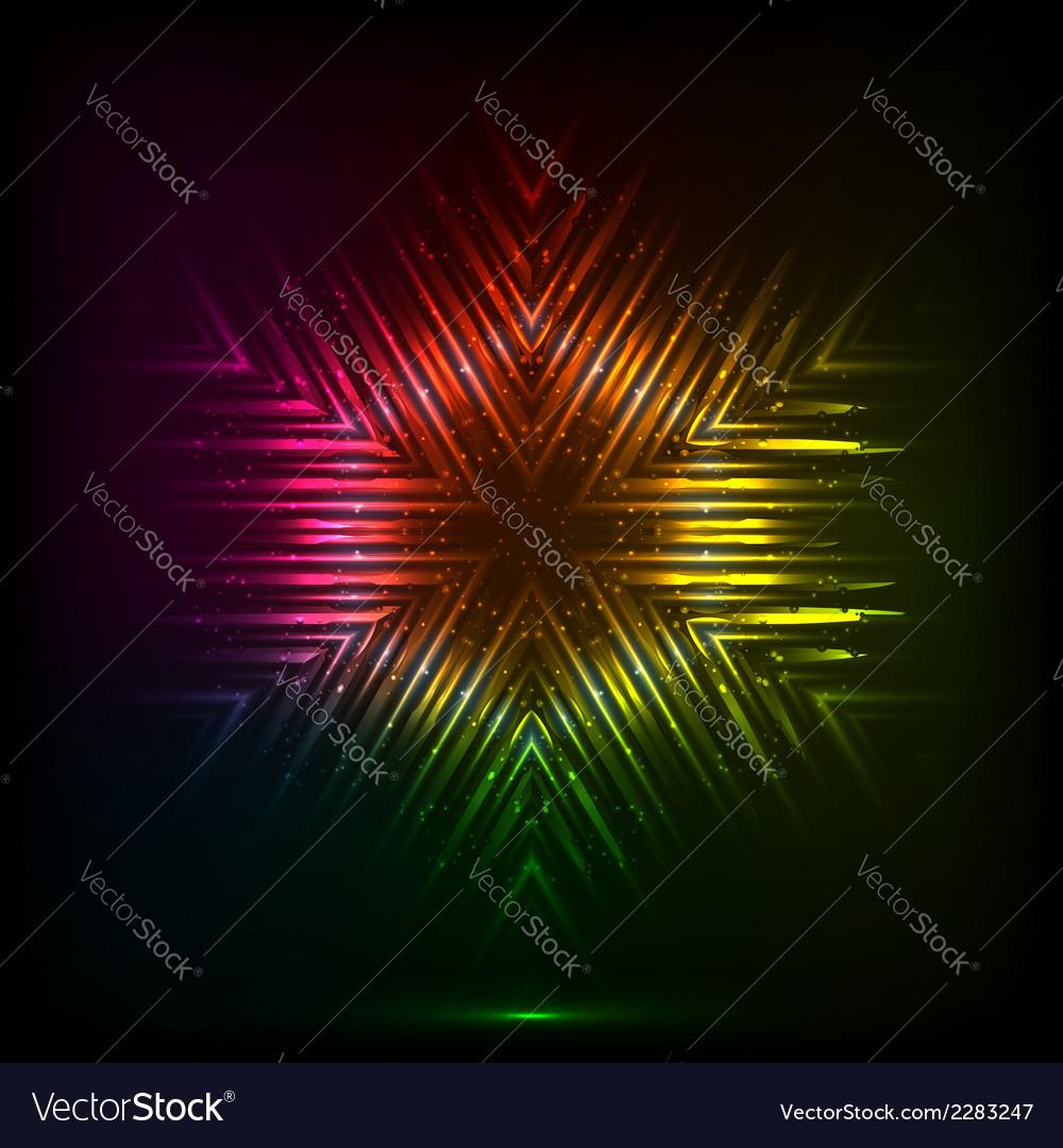 Cosmic shining abstract snowflake vector   Price: 1 Credit (USD $1)