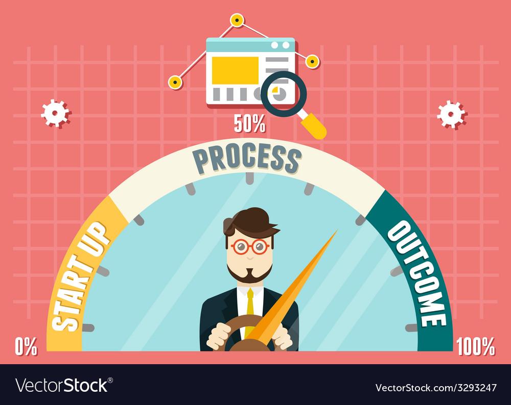 Dashboard of business development vector | Price: 1 Credit (USD $1)