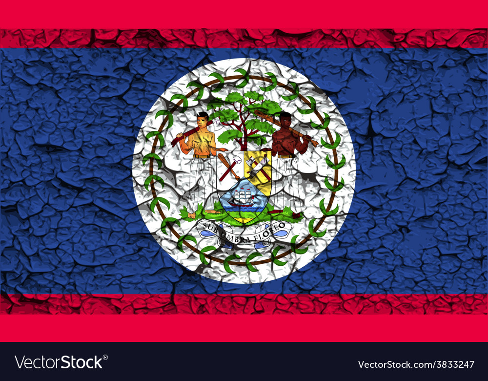Flag of belize with old texture vector | Price: 1 Credit (USD $1)