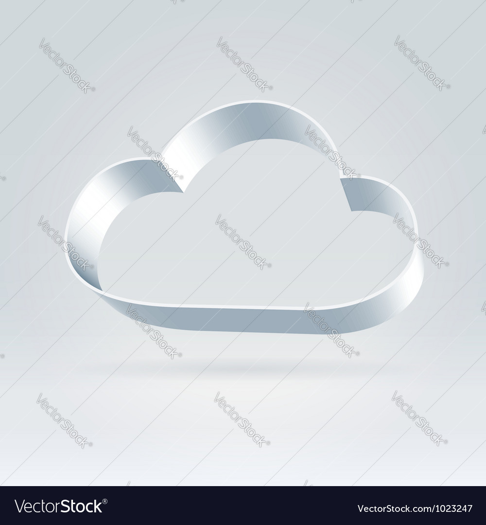 Metallic ribbon cloud vector | Price: 1 Credit (USD $1)