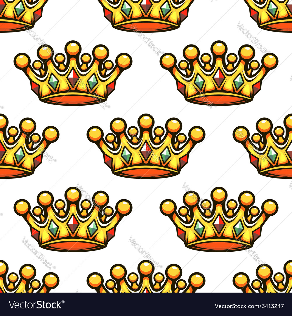 Seamless pattern of a royal golden crown vector | Price: 1 Credit (USD $1)