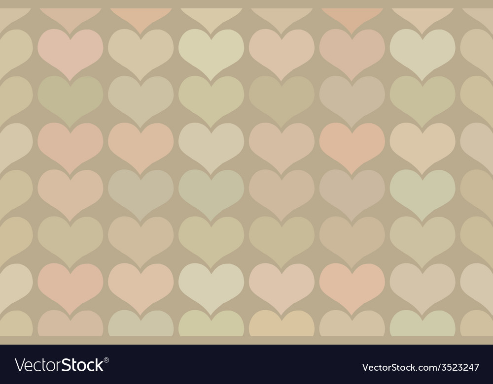 Seamless vintage heart pattern background vector | Price: 1 Credit (USD $1)