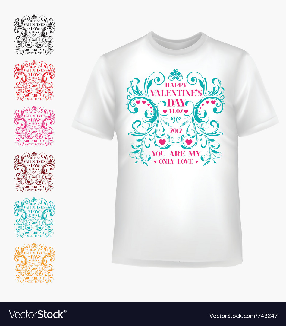 T-shirt with abstract heart vector | Price: 1 Credit (USD $1)