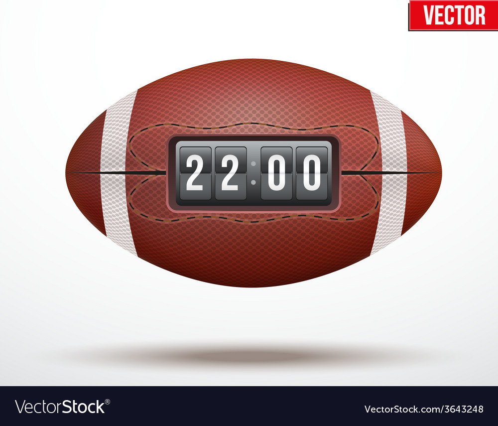 American football ball with score of the game vector | Price: 1 Credit (USD $1)