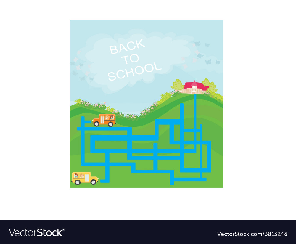 Back to school - maze vector | Price: 1 Credit (USD $1)
