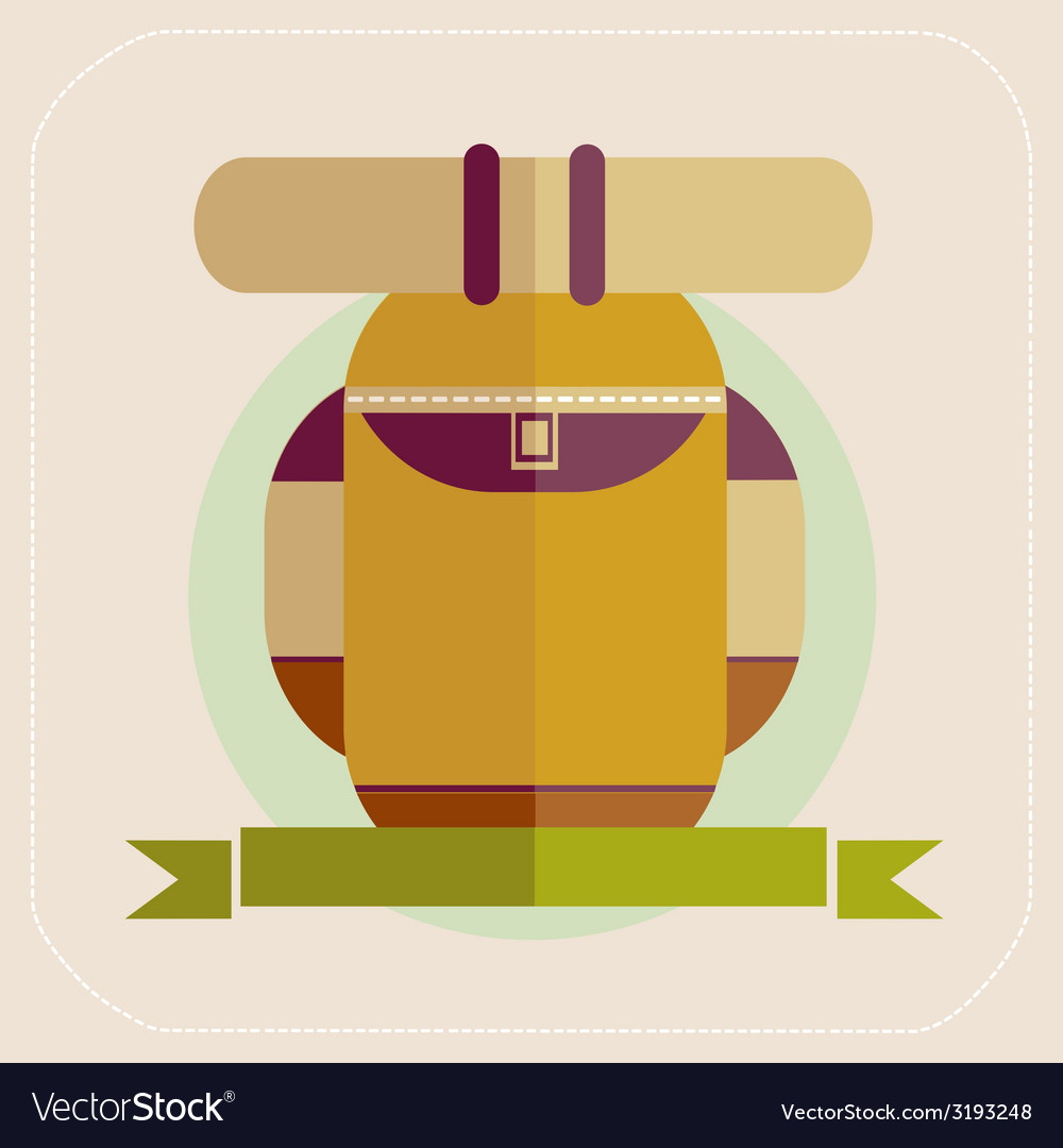 Backpack of tourist icon vector | Price: 1 Credit (USD $1)
