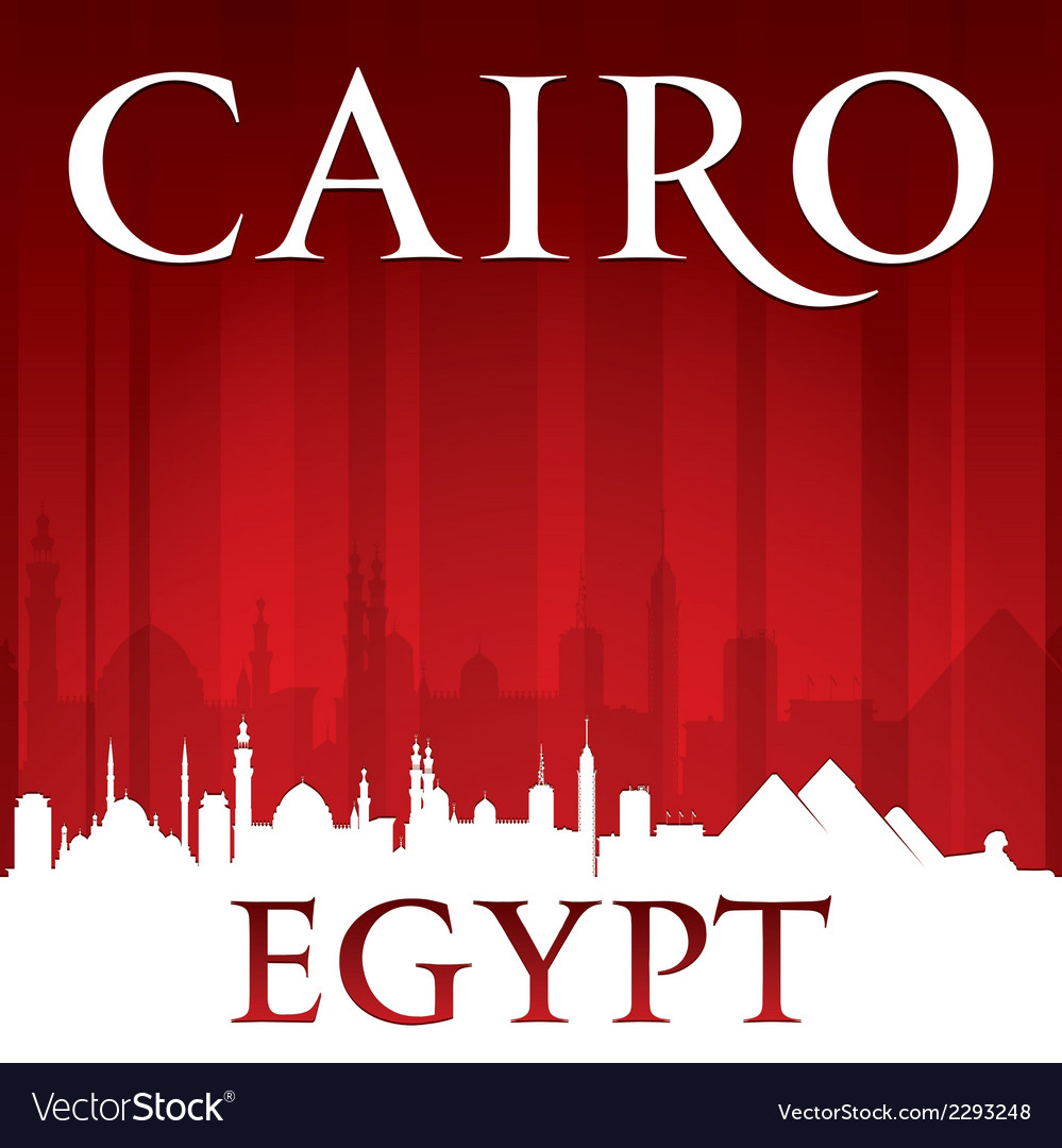 Cairo egypt city skyline silhouette vector | Price: 1 Credit (USD $1)