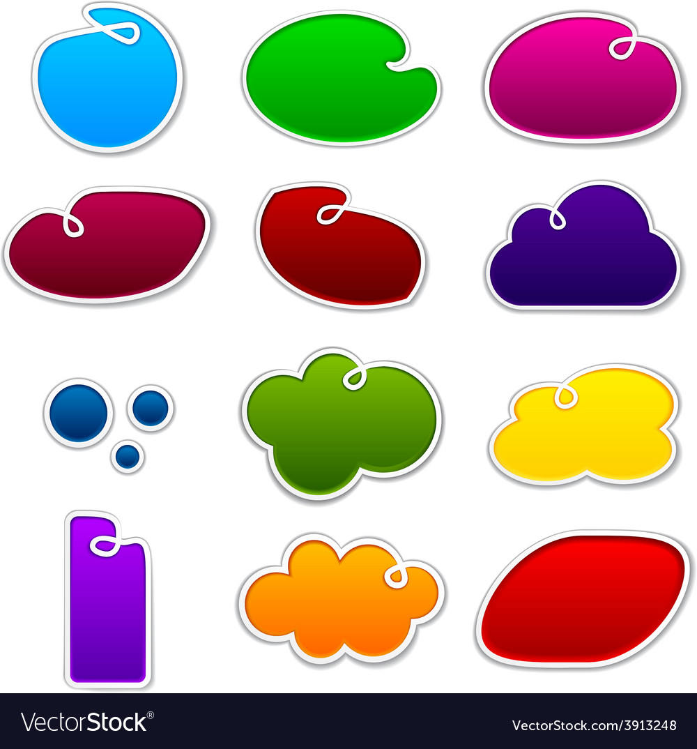 Cloudscape notification paper shapes vector   Price: 1 Credit (USD $1)