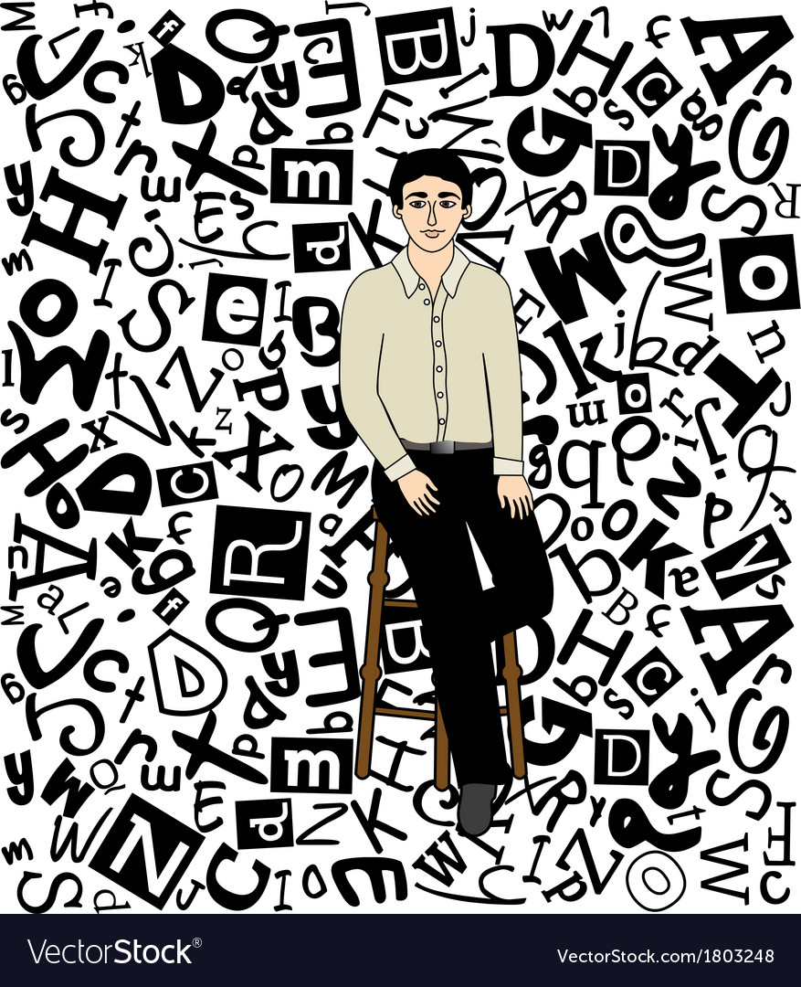 Font man vector | Price: 1 Credit (USD $1)