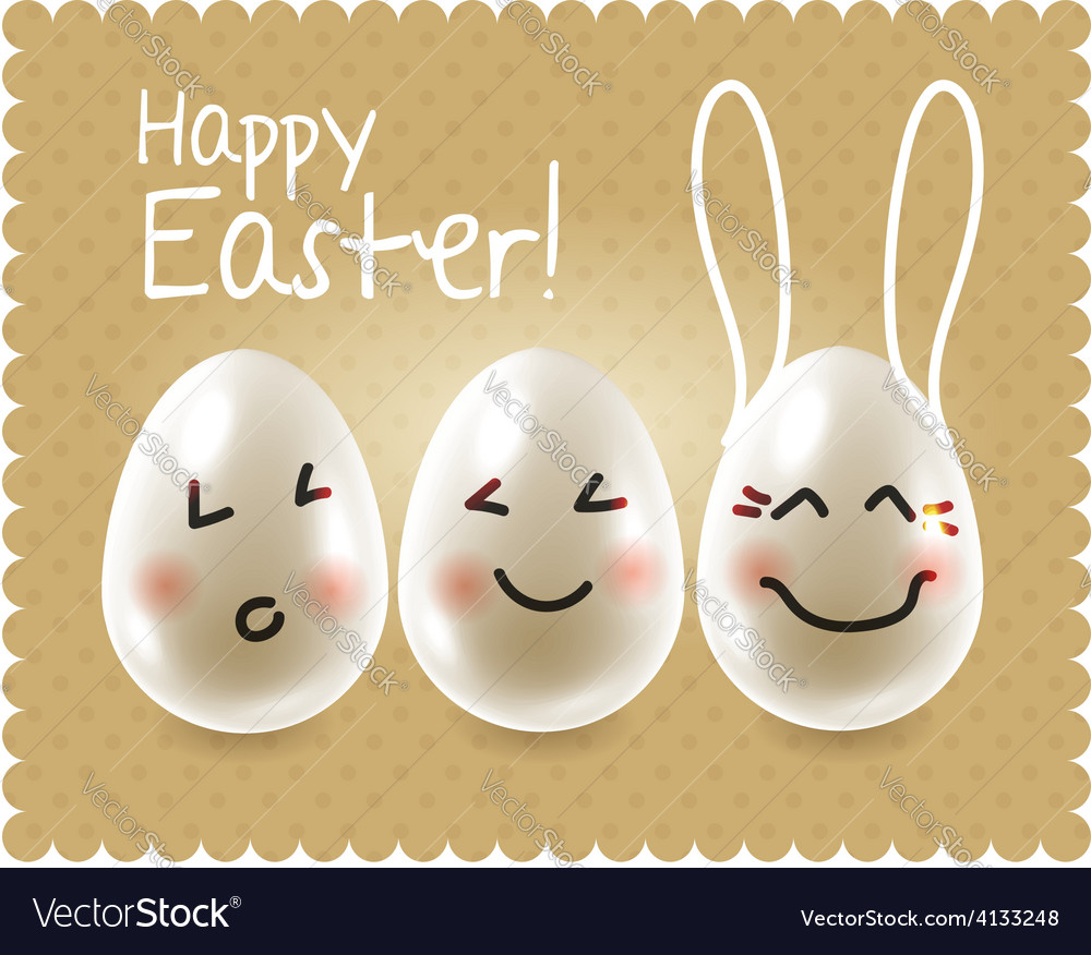 Funny easter eggs fooling around characters vector