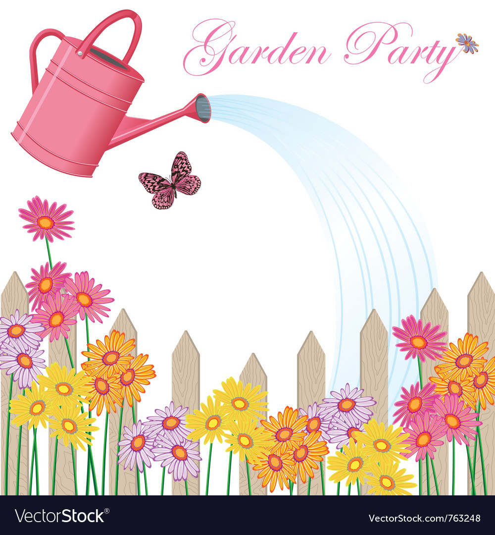 Garden party shower vector | Price: 1 Credit (USD $1)